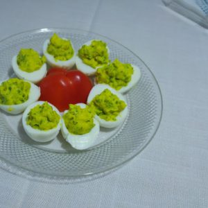 deviled eggs with curcumall